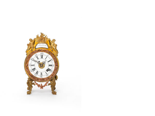Bracket clock, signed Pinchbeck