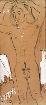 Yiannis Tsarouchis (Greek, 1910-1989) Male nudes; a pair 27 x 13 cm. (each)