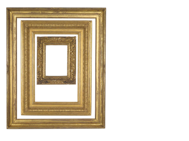 An English 19th Century gilded composition Morland frame