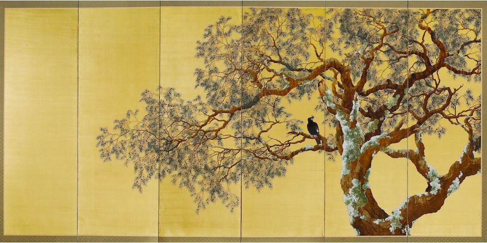 Koyama Gakurei  Born 1886, Taisho Period, 1918