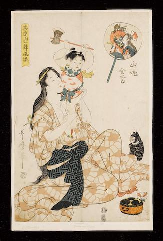 kitagawa Utamaro II (fl.circa 1804-1830) Dated 1808