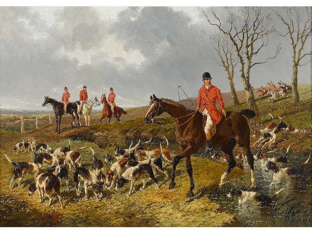 John Frederick Herring, Jnr. (British, 1815-1907) The hunt 36 x 51 cm. (14 x 20 in.)