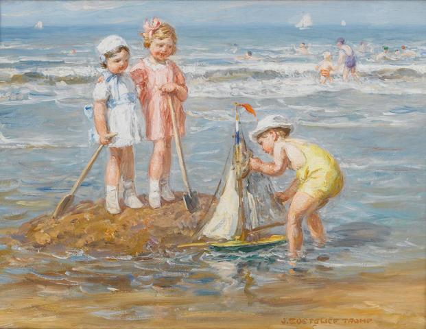 Johann Zoetelief Tromp (Dutch, 1872-1947) Final adjustments 31 x 41 cm. (12 1/4 x 16 1/4 in.)