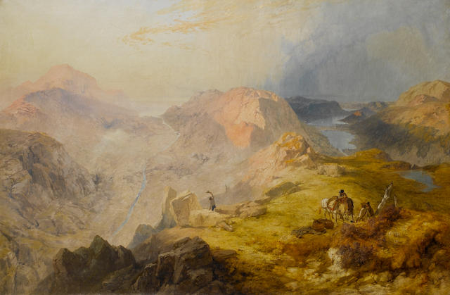 James Baker Pyne (British, 1800-1870) The vales of Ennerdale and Buttermere with their lakes, also those of Crammock and Loweswater 122 x 187 cm. (48 x 73 1/2 in.)