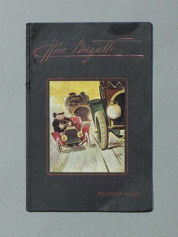 A Bugatti sales brochure,