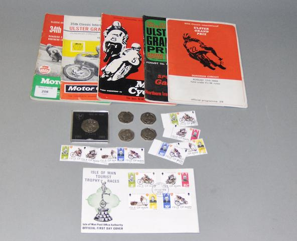 Isle of Man and Ulster Grand Prix memorobilia,