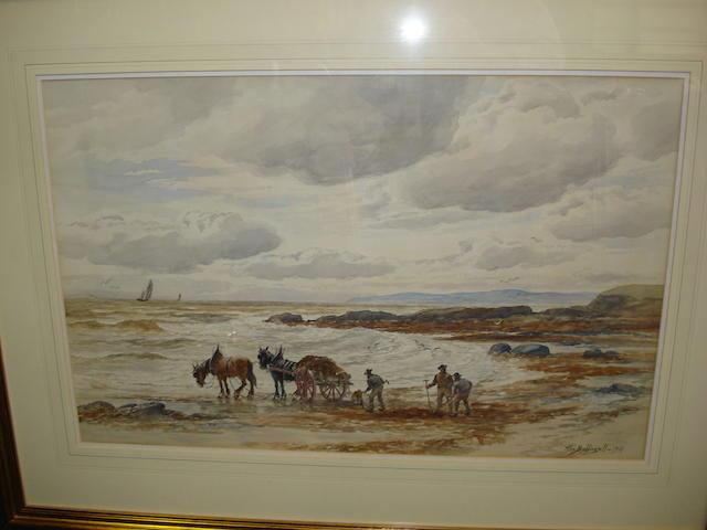 Alexander Ballingall (British, 1870-1910) Gathering seaweed