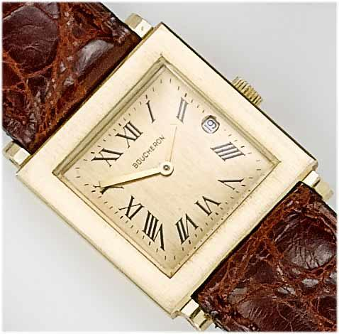Boucheron. A lady's 18ct gold calendar wristwatch  1980's