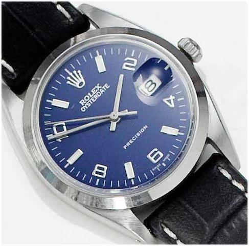 Rolex. A gents stainless steel centre seconds calendar wristwatch  Oysterdate, 1961