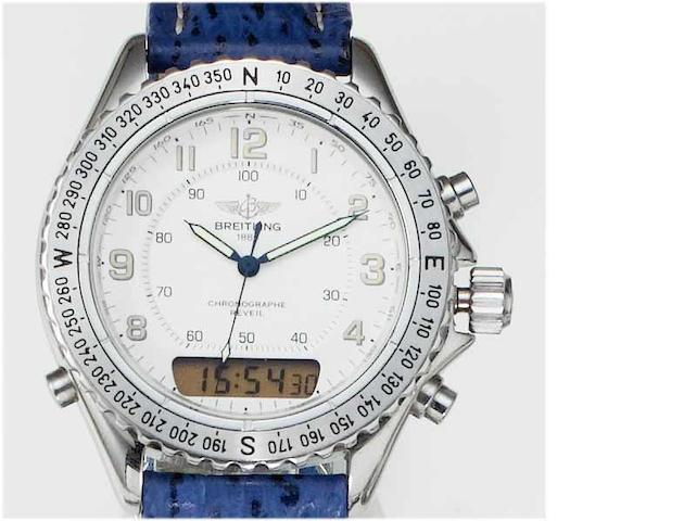Breitling. A stainless steel centre seconds chronograph wristwatch Recent