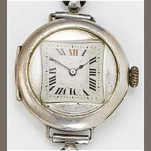 Rolex. A gents silver cased wristwatch London Hallmark for 1934