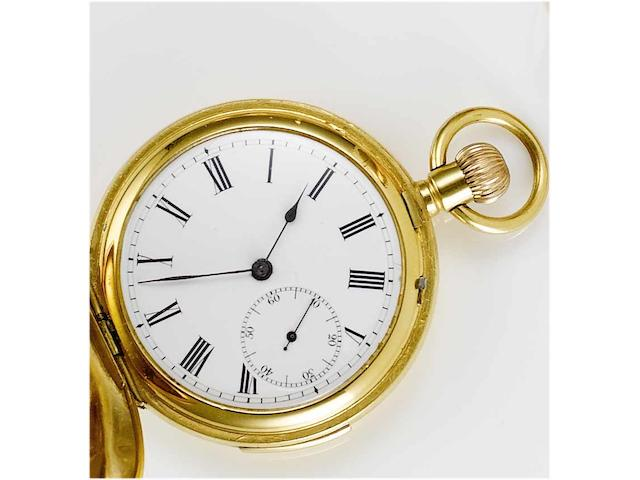 An early 20th Century Swiss gold filled full hunter pocket watch,