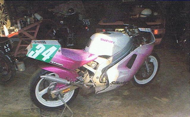 c.1990 Suzuki RGV250 Racing Motorcycle Frame no. VJ21A127497