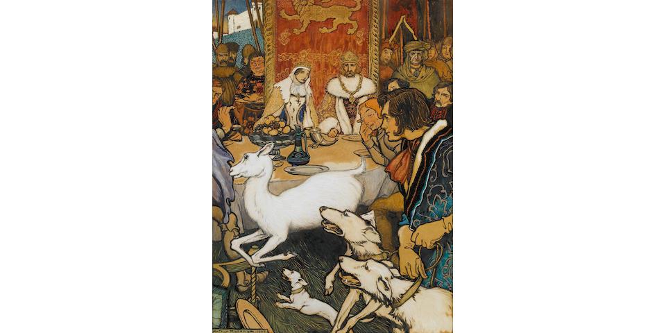 Arthur Rackham (British, 1867-1939) King Arthurs wedding feast