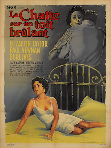Cat On A Hot Tin Roof (La Chatte Sur Un Toit Brulant), Metro-Goldwyn-Mayer, 1958,