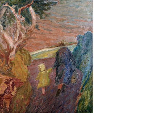 Henryk Gotlib (Polish, 1890-1966) Lane in Cornwall