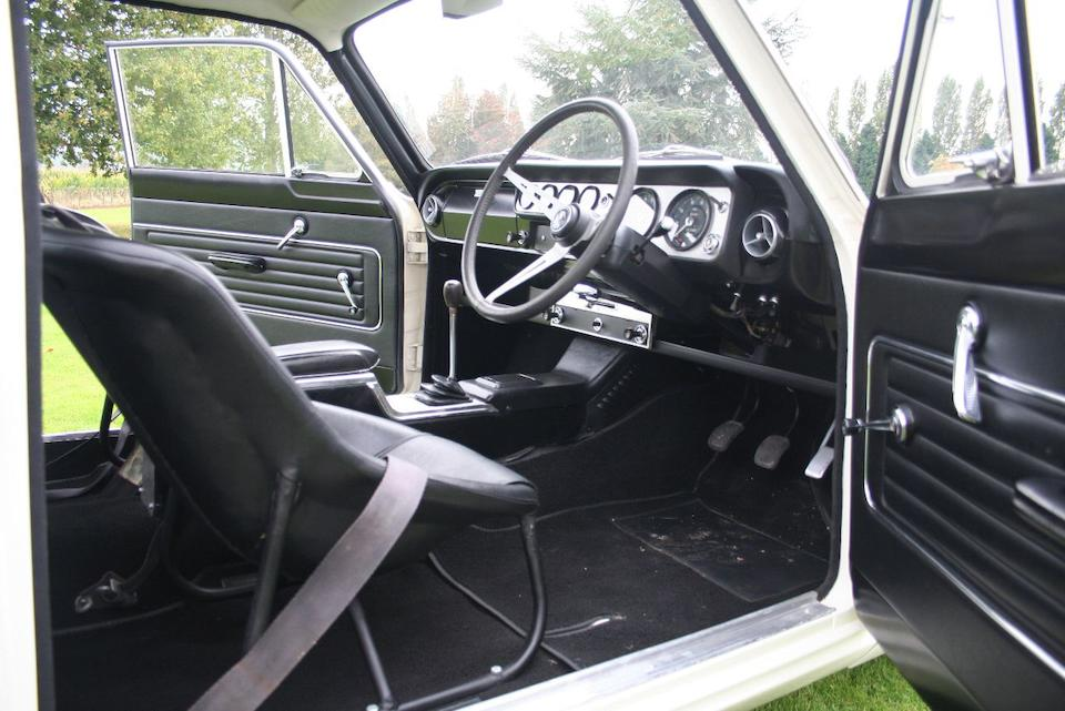 The ex-Team Lotus, Jim Clark/John Whitmore/Jack Sears,1965 Ford Lotus Cortina MkI Saloon  Chassis no. BA85E 424567