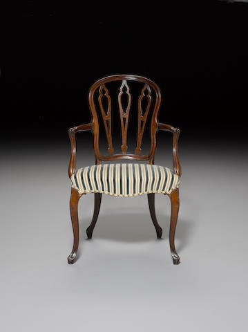 A George III mahogany Open Armchair in the Hepplewhite style