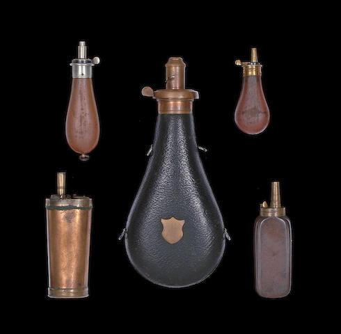 Five Powder-Flasks For Pistols, And Two Powder-Flasks For Guns