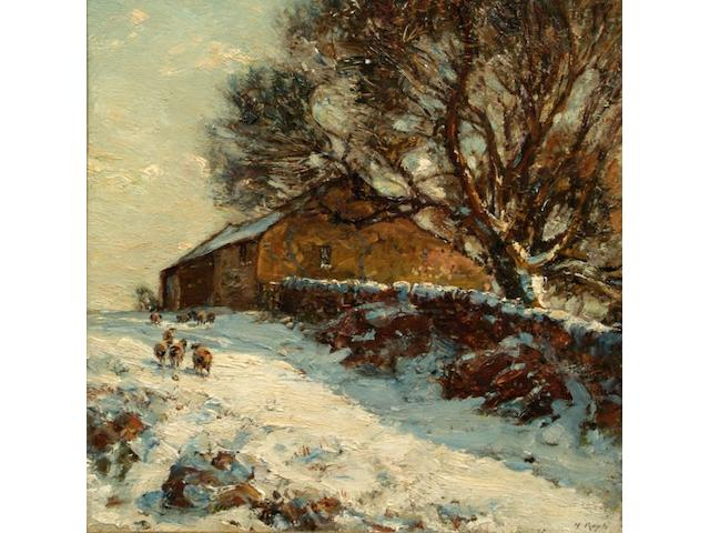 Herbert F. Royle (British, 1870-1958) 'The Upland Barn in Langbar',