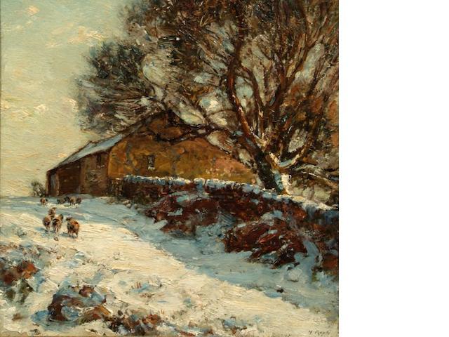 Herbert F. Royle (British, 1870-1958) 'The Upland Barn in Langbar',