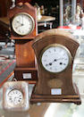 A miniature mahogany grandfather clock 3