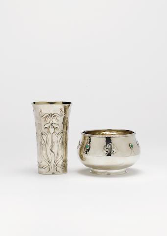 Gilbert Marks An Arts and Crafts Silver Beaker, 1896