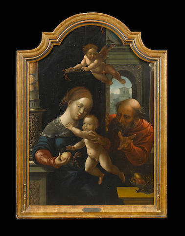 Workshop of Bernaert van Orley (Brussels 1488-1541) The Holy Family 96.4 x 67 cm. (38 x 26 3/8 in.)