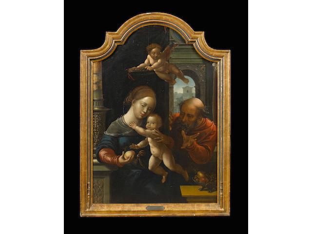 Workshop of Bernaert van Orley (Brussels 1488-1541) The Holy Family 96.4 x 67 cm. (38 x 26 3/8 in.)