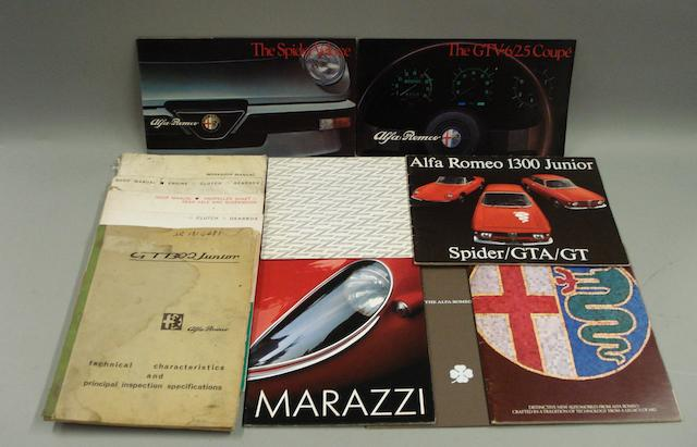 Alfa Romeo sales brochures and ephemera,