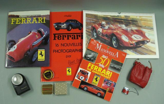 Assorted Ferrari ephemera,