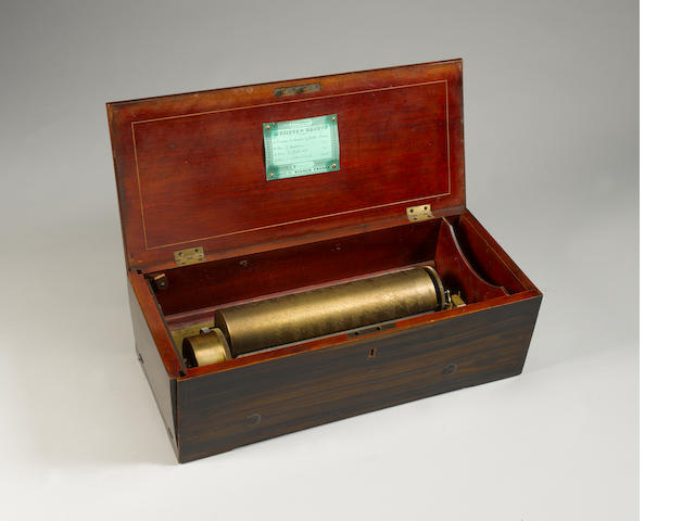 A Fine 4-air Overture key-wind musical box by Nicole Freres,