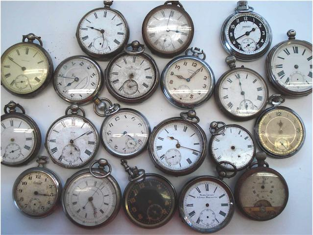 A lot of twenty various pocket watches, 20