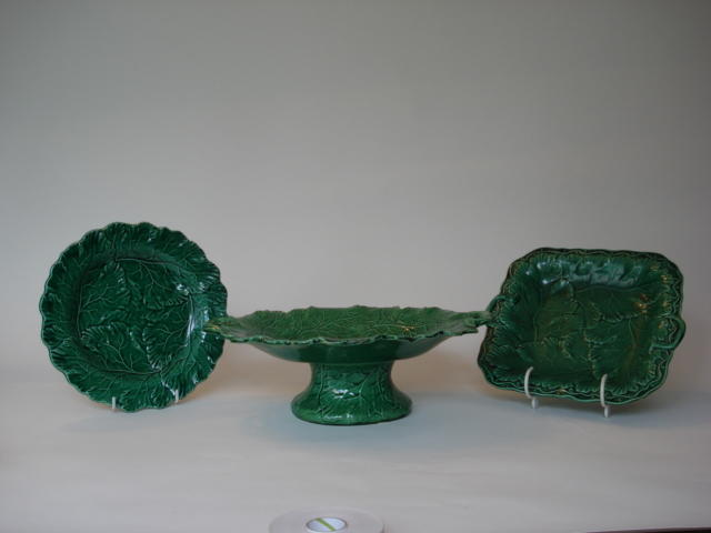 A composite set of green glazed dinner wares