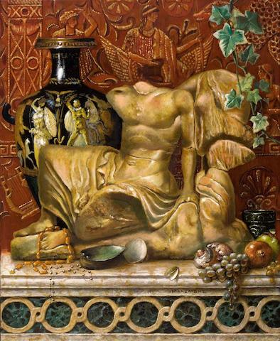 Theodoros Manolidis (Greek, born 1940) Still life 55.5 x 45 cm.