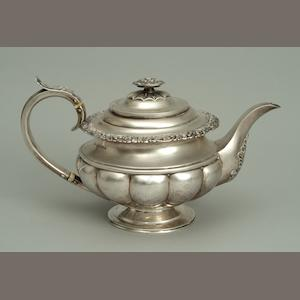 A George IV teapot by Thomas Wheatley (probably), Newcastle 1829