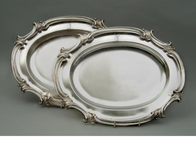 A pair of Old Sheffield Plate meat dishes by Waterhouse Hatfield and Co, circa 1836