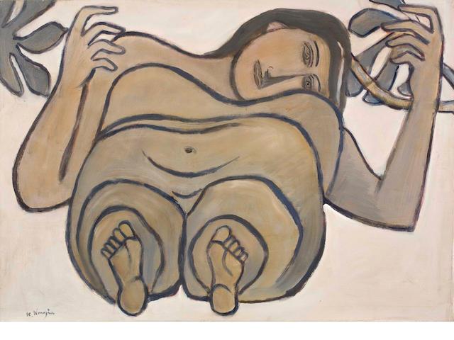 Nikos Nikolaou (Greek, 1909-1986) Nude 68 x 96 cm.