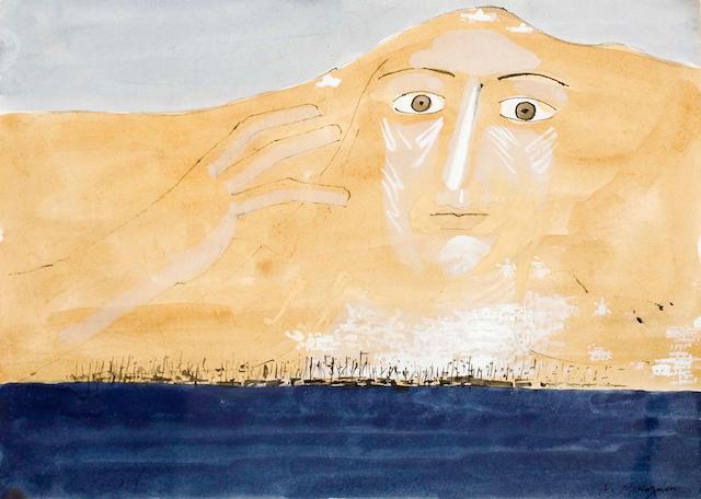 Nikos Nikolaou (Greek, 1909-1986) Hydra 24 x 34 cm.