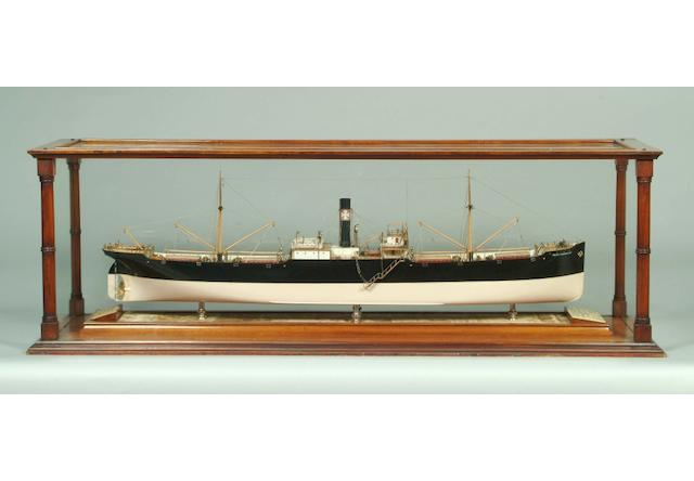 A scale model of the SS Indian Transport No.169, SS Cape Transport No.172 and SS Natal  No.173