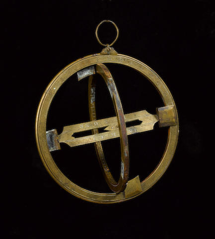 A brass universal equinoctial ring dial, English, mid 18th century,