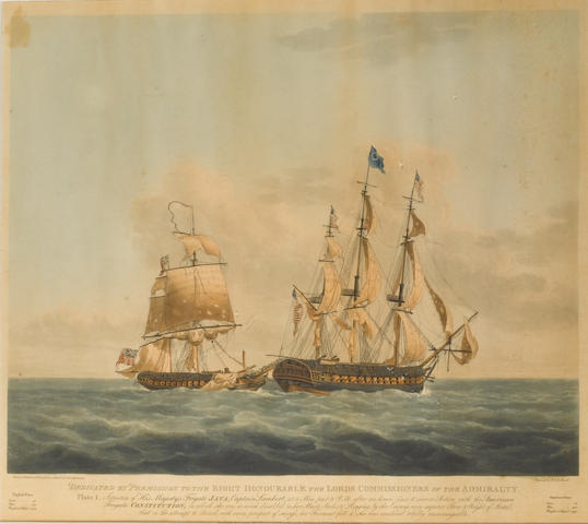 R&D Havell, after N Pocock from sketches by Lieut. Buchanan 18x16in(46x41cm) 4
