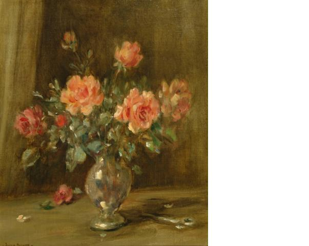 Owen Bowen (British, 1873-1967) Roses in vase