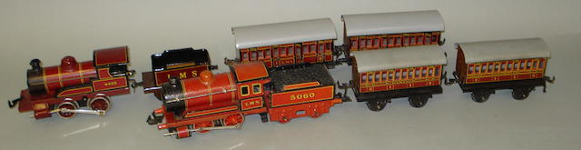 Two Bing gauge 0 0-4-0 locomotives and tenders 6