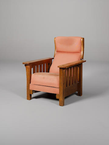 Arts & Crafts An Oak Reclining Armchair, circa 1905
