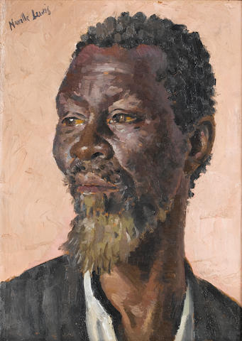 Alfred Neville Lewis (South African, 1895-1972) Portrait of a man 28 x 28 cm. (15 x 11 in.)