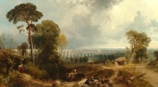 James Duffield Harding (British, 1798-1863) Crimple Viaduct, near Harrogate