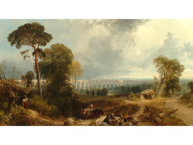 James Duffield Harding (British, 1798-1863) Crimple Viaduct, near Harrogate
