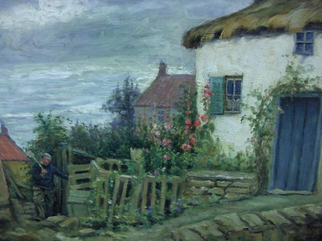 Mark Senior (British, 1864-1927) Cottages at Runswick Bay