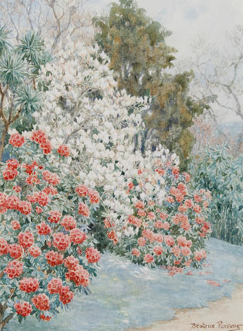 Beatrice E. Parsons (British, 1870-1955) The edge of the garden
